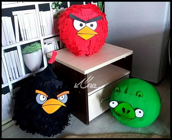 Пиньяты по мотивам Angry birds рукоделие без процесса, handmade, Angry Birds
