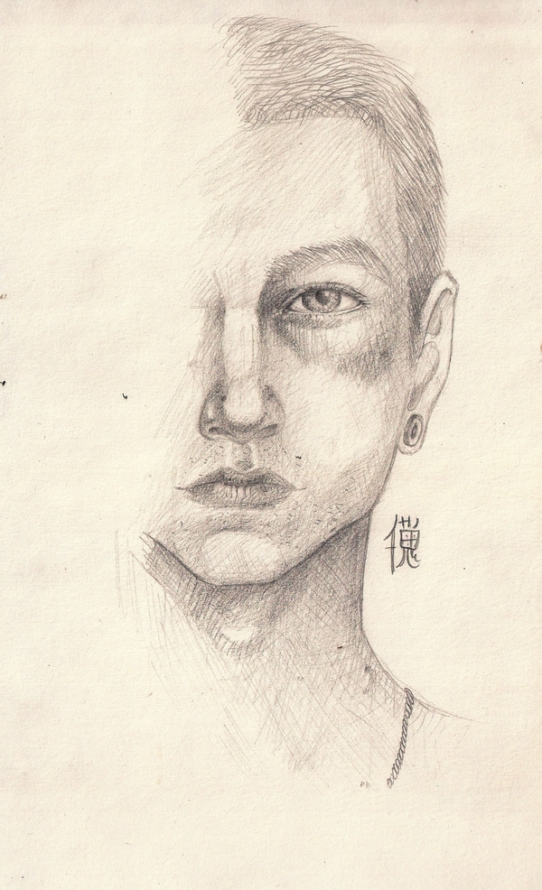 Вечная проблемма второго глаза арт, какртинки, рисунок карандашом, творчество, длиннопост