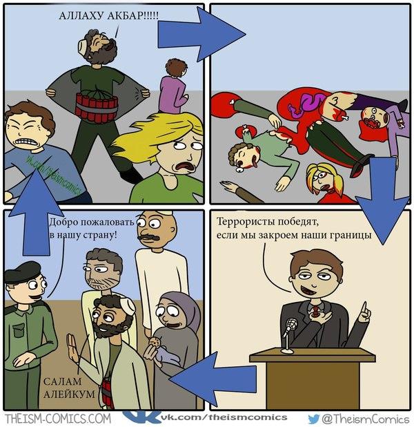 Аллаху Акбар! webcomics, theism, ислам, Комиксы, Атеизм, смешное, мусульмане