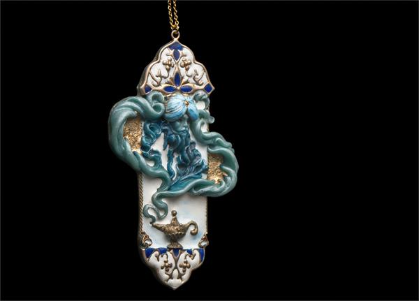Марид () скульптурная миниатюра, мифология, рукоделие без процесса, лампа, джинн, кулон, арабская мифология, длиннопост