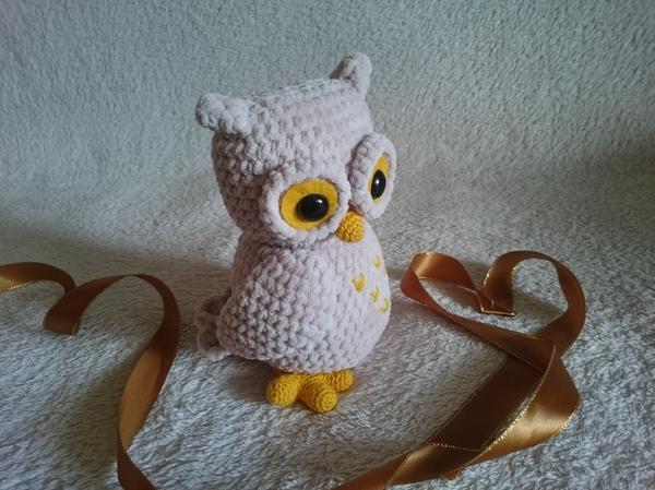 Вязаная плюшевая совушка творчество, вязание, рукоделие без процесса, плюшевые игрушки, сова, handmade, погладь сову, вязаные игрушки, длиннопост