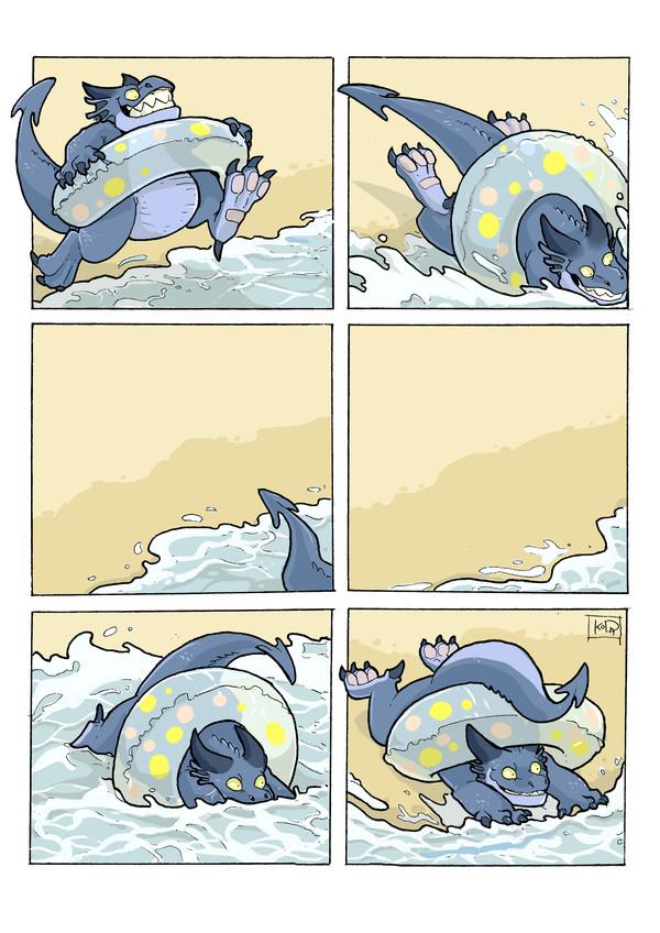 Кратко о том, как я плаваю в море.