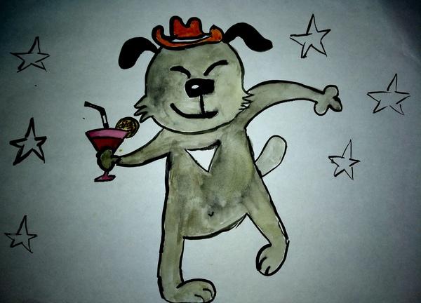 Собака-танцевака рисунок, творчество
