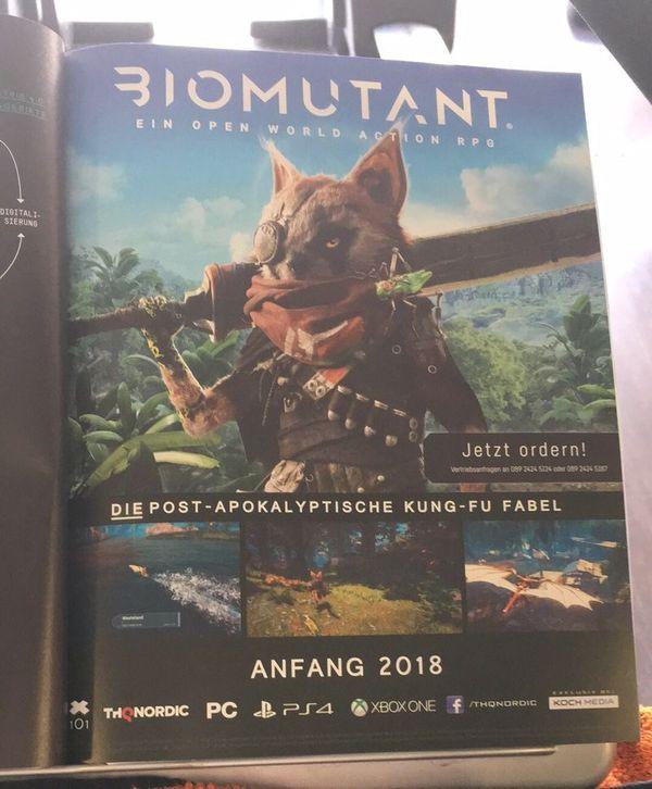 Утечка новой игры THQ Nordic — Biomutant Biomutant, THQ Nordic, Игры, Утечка, Action rpg