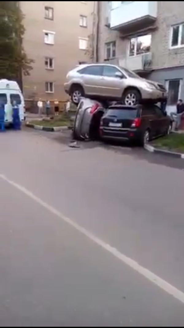 Припарковался мля...