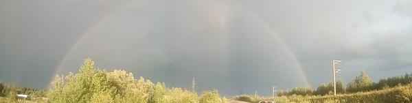 Радуга радуга, фотография, ХМАО, Природа