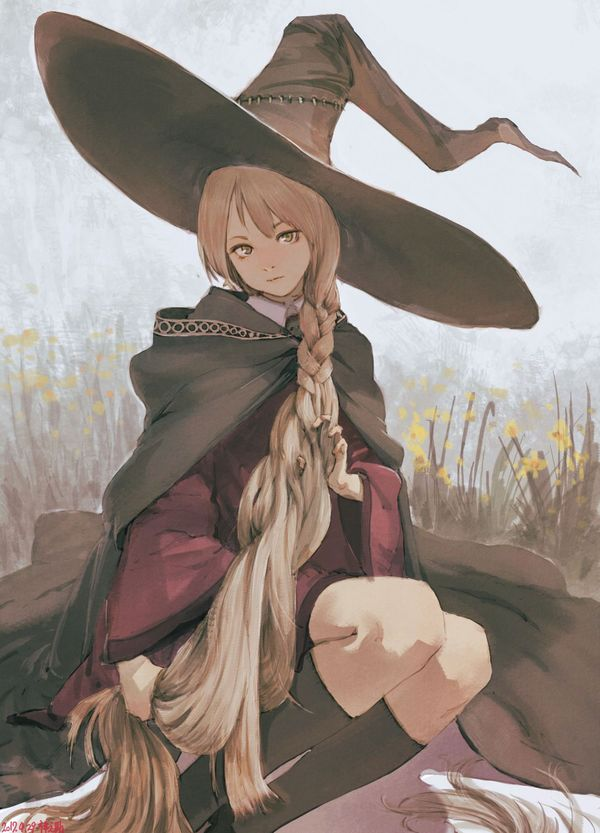 Majo Anime Original, Anime Art, аниме, не аниме, арт, witch