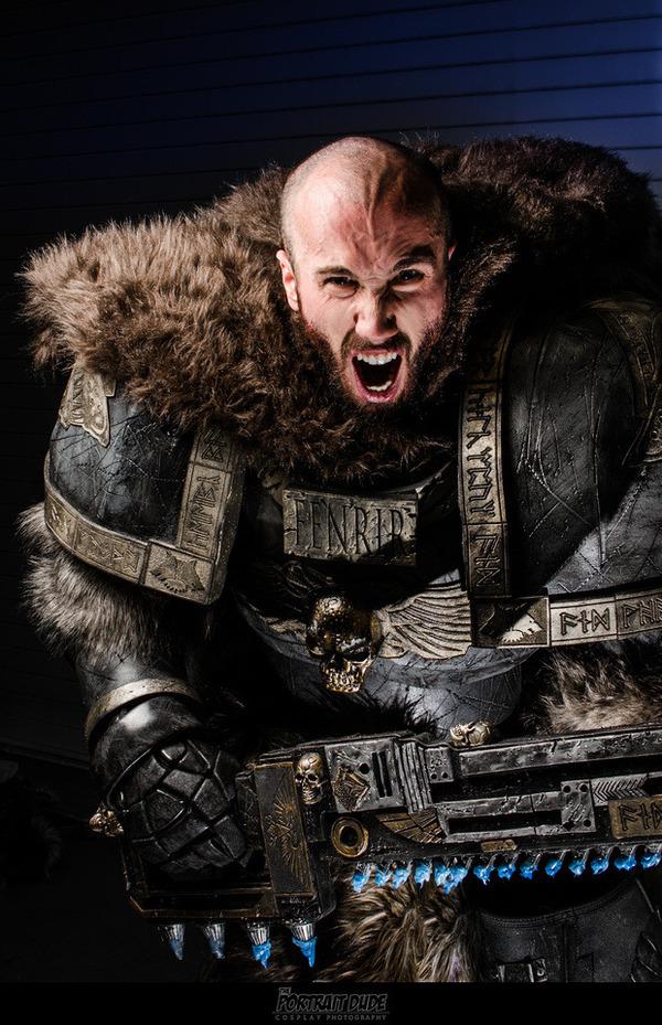 Космоволк Warhammer 40k, space wolves, косплей, длиннопост, фотография
