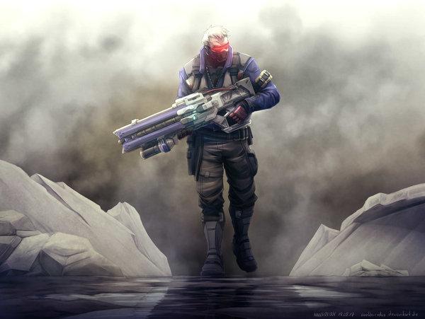 Overwatch Arts Overwatch, Soldier 76, Reaper, Жнец, Junkrat, Крысавчик, Zarya, арт, длиннопост