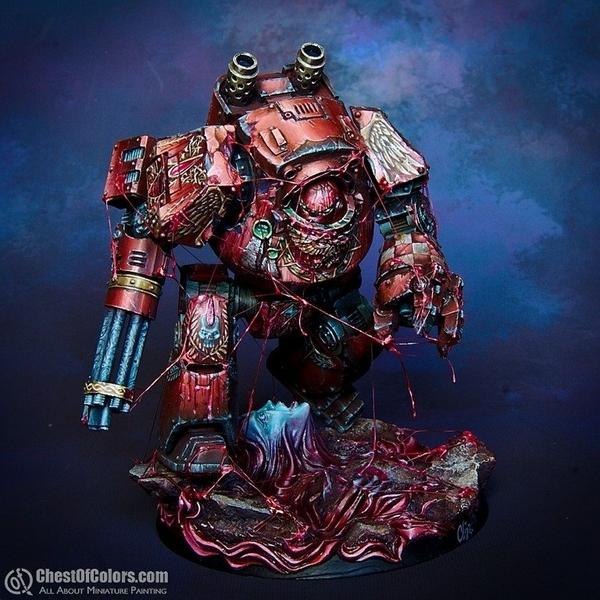 Кровавая работа Warhammer 40k, Моделизм, Миниатюра, Дредноут, Blood Angels, Длиннопост