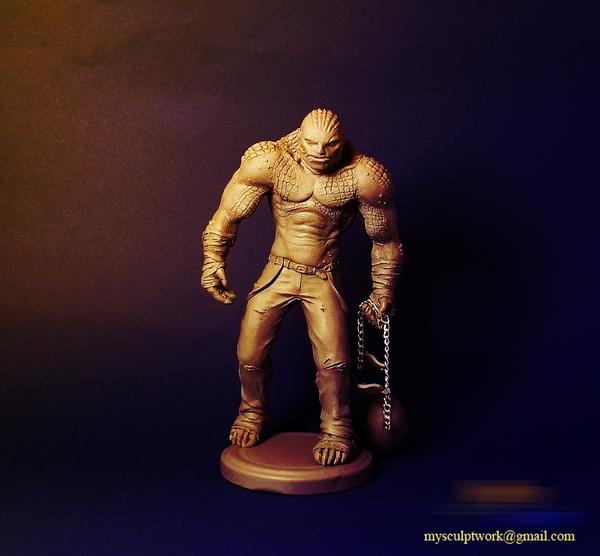 Киллер крок полимерная глина, скульптура, handmade, рукоделие без процесса, killer croc, длиннопост