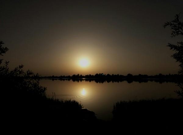 Закат над озером Природа, Озеро