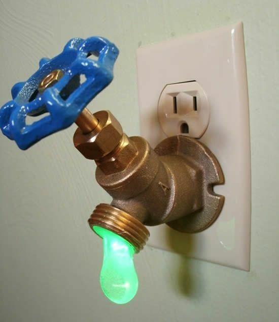 Жидкое электричество. фотография, Ночник, дизайн, кран