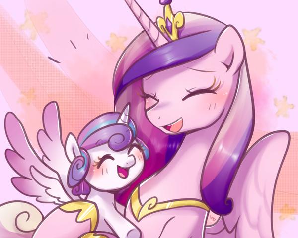Cadance with Flurry Heart My Little Pony, ponyart, Princess Cadance, Flurry Heart