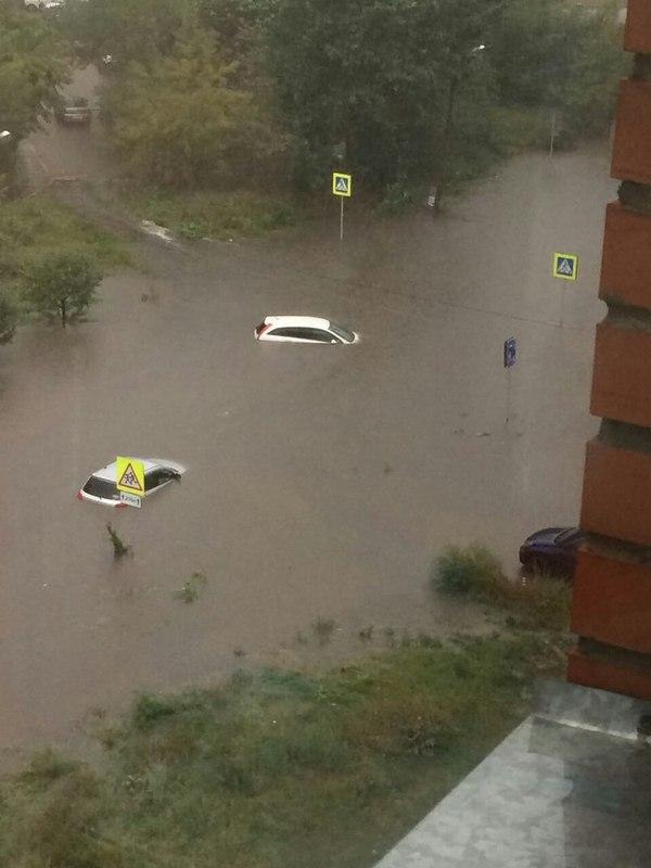 Красноярск берет пример с Дальнего Востока Красноярск, потоп, Дождь, ливень, длиннопост