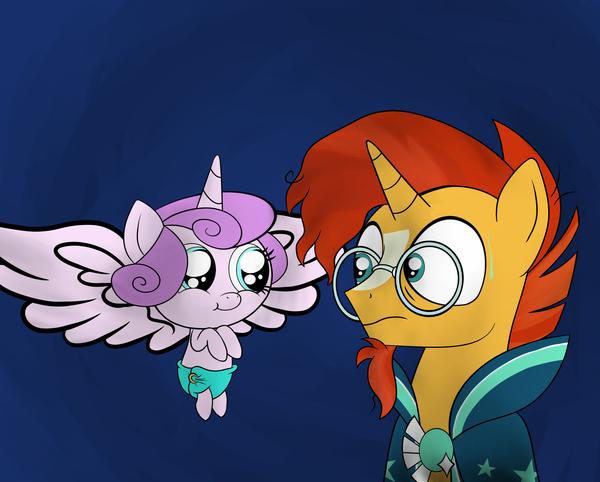 Pure Evil My Little Pony, ponyart, Sunburst, Flurry Heart