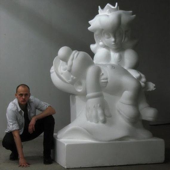 Допрыгался поп-арт, Польша, Марио, скульптура, длиннопост