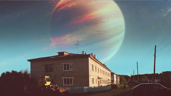 Когда выходные проводишь лето в деревне, но хочешь чтобы это были космические дни. 2 Якубом Розальски, космос, деревня