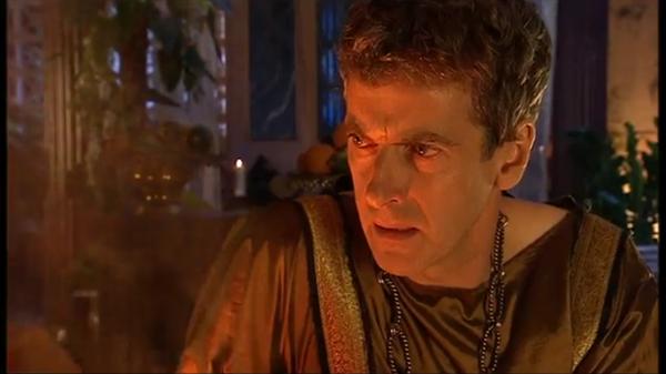 The Fires Of Pompeii / Огни Помпей, s4e2 Доктор Кто, Питер Капальди, Дэвид Теннант, Десятый Доктор облизывает вещи, Карен Гиллан, гифка, длиннопост