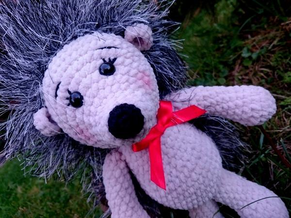 Моя прогулка с ёжиком) вязание, рукоделие без процесса, творчество, handmade, вязаные игрушки, плюшевые игрушки, Ёжик, плюшевые ёжики, длиннопост
