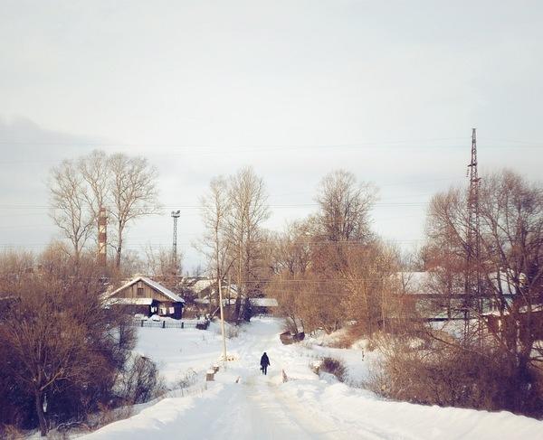 Город Ржев, Тверская область, зима 2011 года