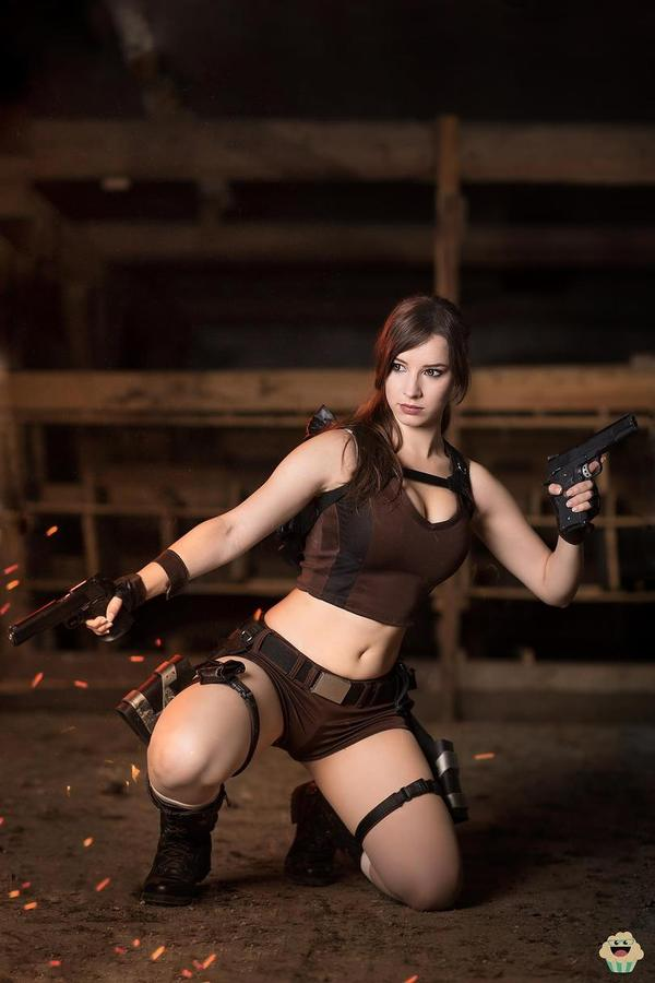 Cosplay Lara Croft Косплей, tomb raider, лара крофт, Сиськи, Enji Night, длиннопост