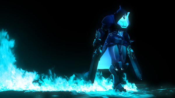 Reaper на рабочий стол Overwatch, Reaper, Жнец, Арт, lonefirewarrior