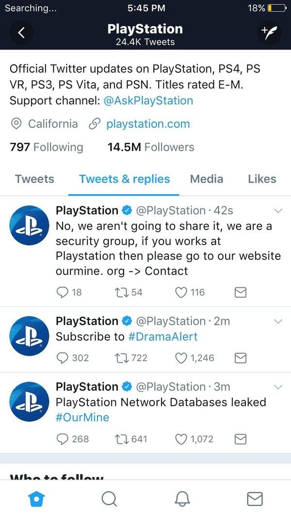 Аккаунты PlayStation в Twitter и Facebook были взломаны, произошла утечка данных playstation, twitter, Facebook, взлом, длиннопост, Sony