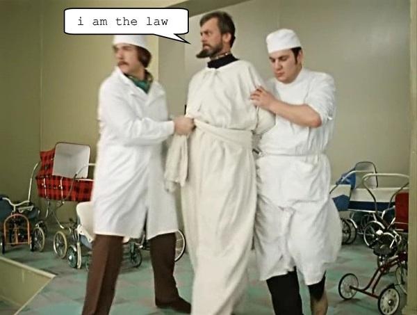 """Ответ на """"I am the LAW!"""" Судья Дредд, Пикабу"""