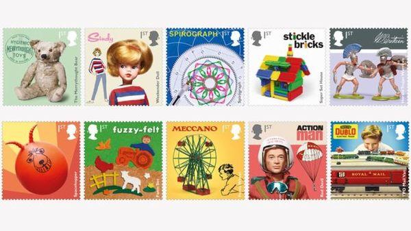 Британские игрушки запечатлены на марках королевской почты филателия, марки, почта, игрушки, Великобритания, длиннопост
