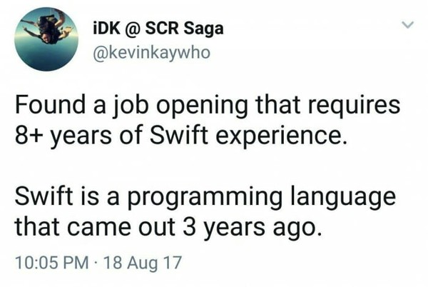 Увидимся через 5 лет twitter, 9gag, swift, программирование
