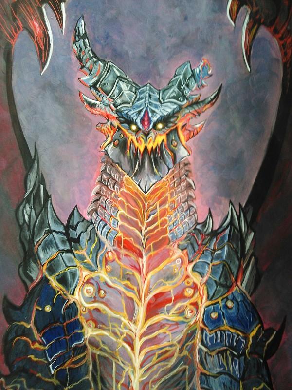 Смертокрыл Разрушитель World of Warcraft, Blizzard, Смертокрыл, Рисунок, Warcraft