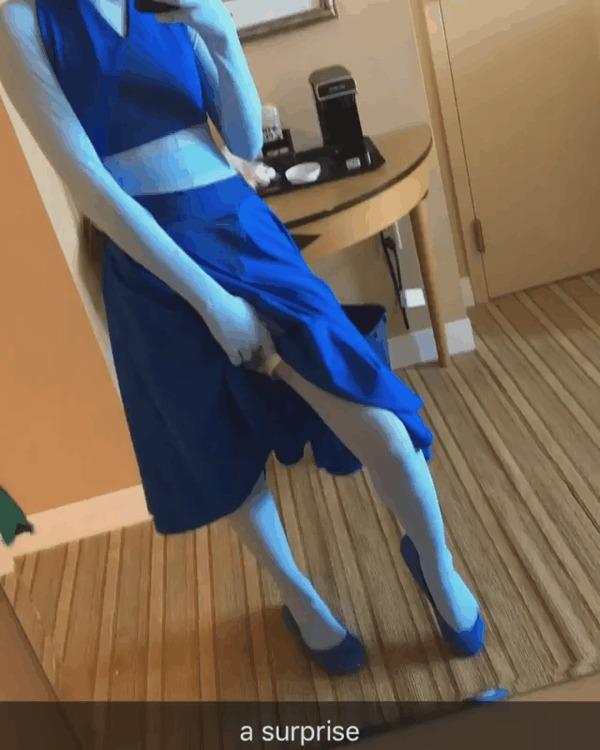 Сюрприз! Steven Universe, Lapis Lazuli, Косплей, Гифка