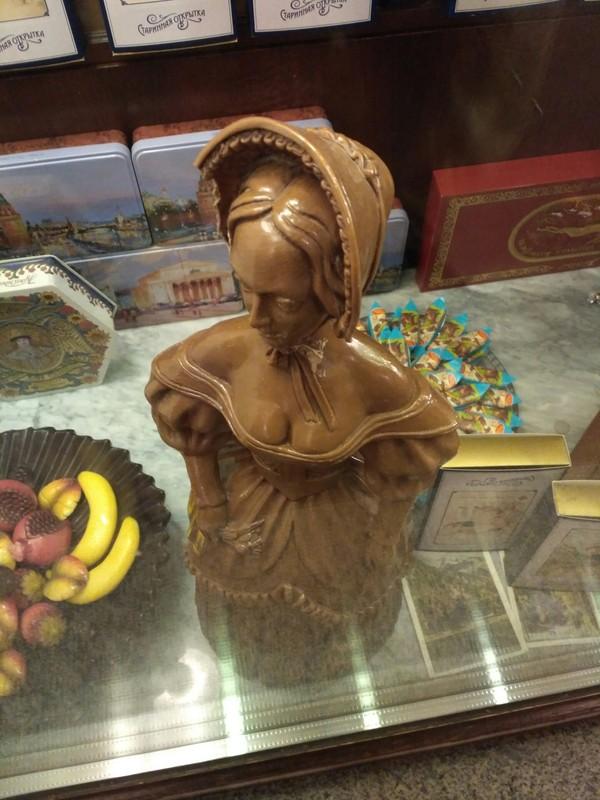 Шоколад бывает привлекательным Сладости, Москва, Инсталляция, Длиннопост