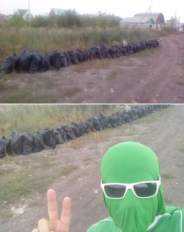 Убрал 3000 литров мусора в Копейске. Чистомен, Уборка, Копейск, Лига чистомэна