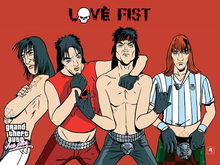 Рок-группа детства. Love fist, Gta vice city