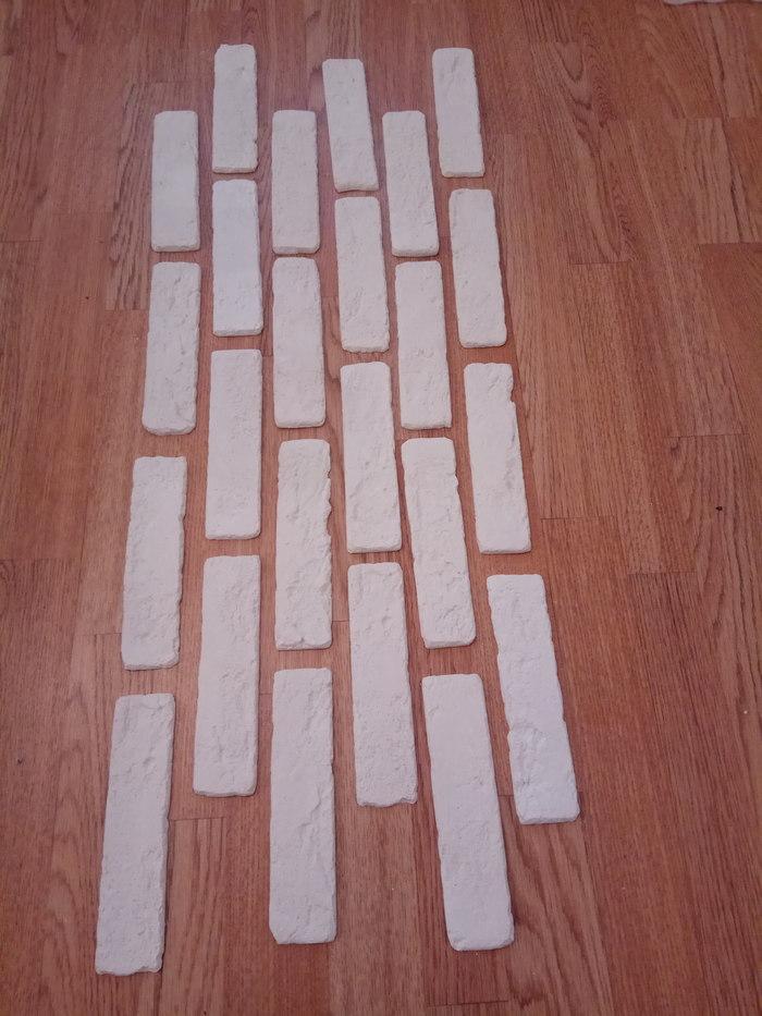 Декоративный кирпич из гипса своими руками (венецианский кирпич) декоративный кирпич, полиуретановая форма, своими руками, кирпич из гипса, ремонт, рукодельники, длиннопост