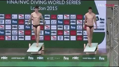 Синхронные прыжки в воду