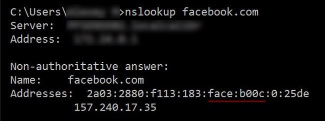 Ребята в Facebook заморочились с ipv6-адресом