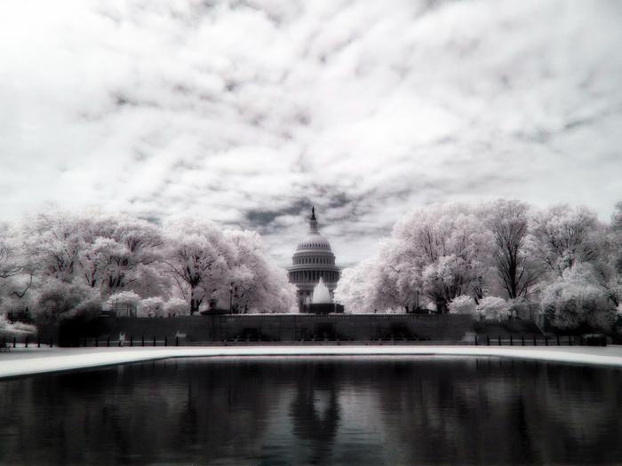 Капитолий Фотография, Инфракрасная съёмка