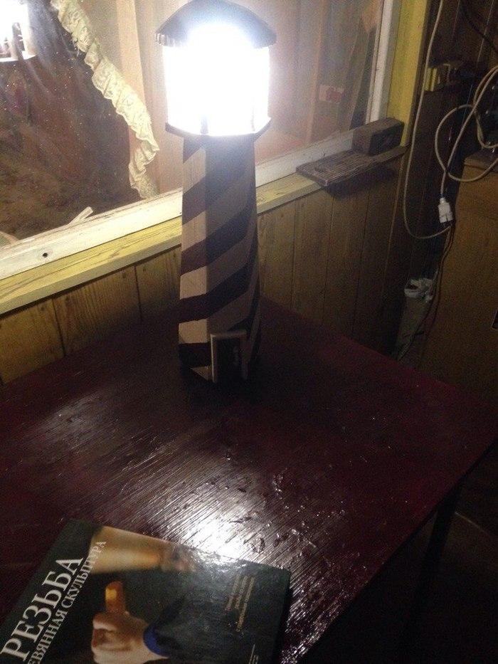 Маяк-светильник #2 маяк, светильник, своими руками, handmade, фигуры для сада, рукоделие без процесса, длиннопост
