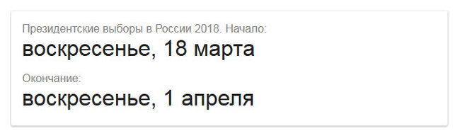 Коротко о выборах 2018 1 апреля, Совпадение? не думаю