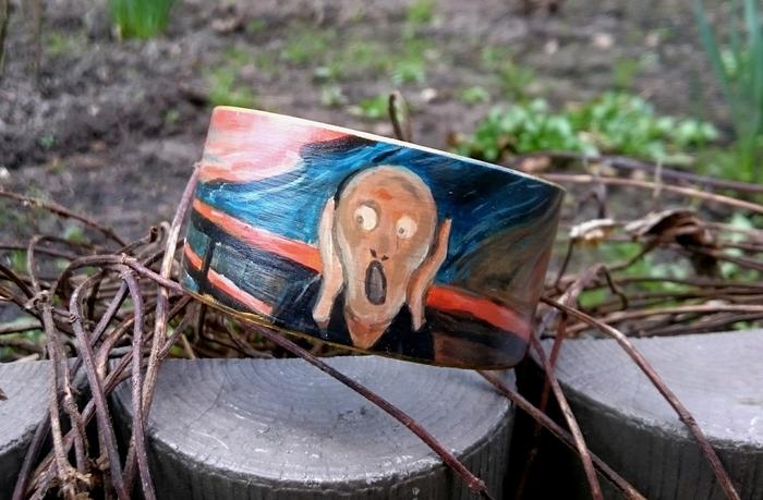 Роспись деревянных браслетов Роспись, Браслет, Эдвард Мунк, Ван гог, Длиннопост