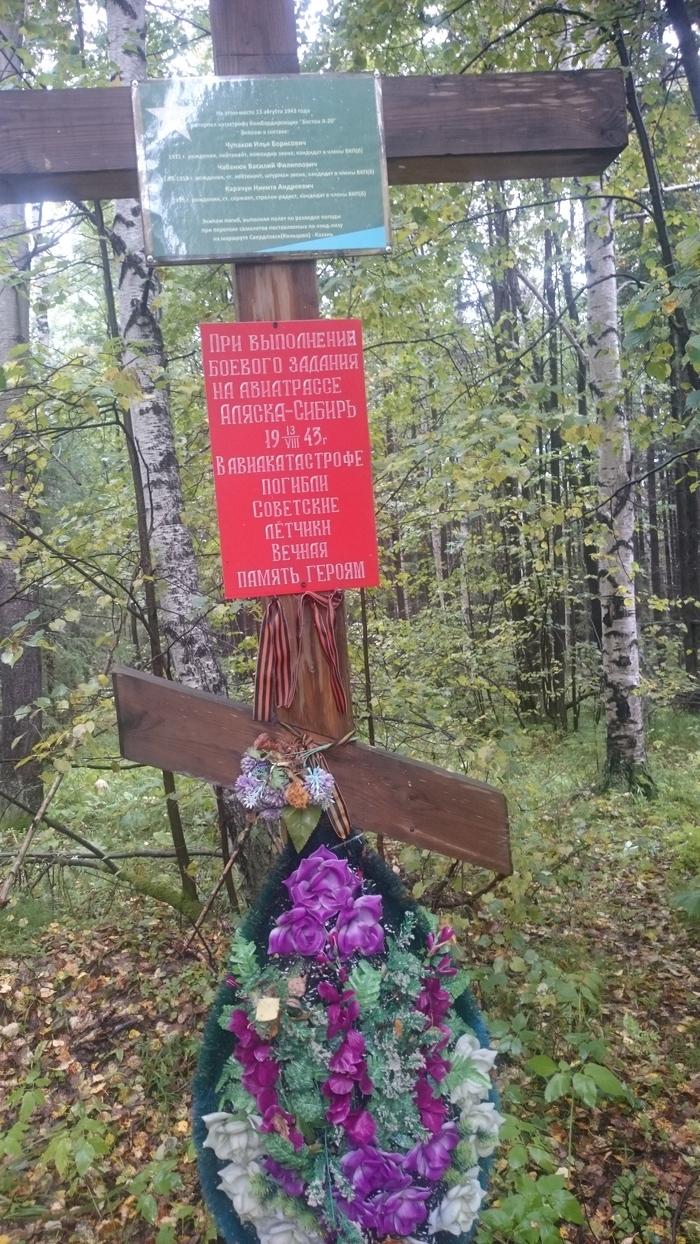Могила в лесу Вечная память, Летчик