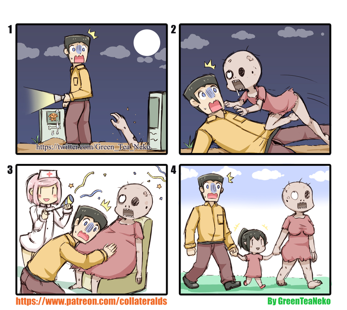 Атакованный зомби