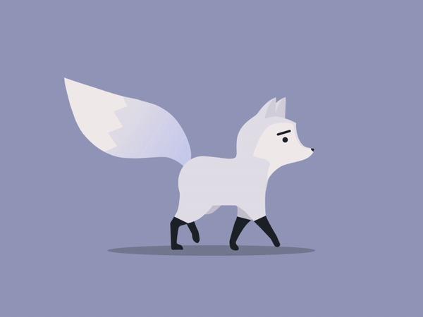 Идущая лисичка