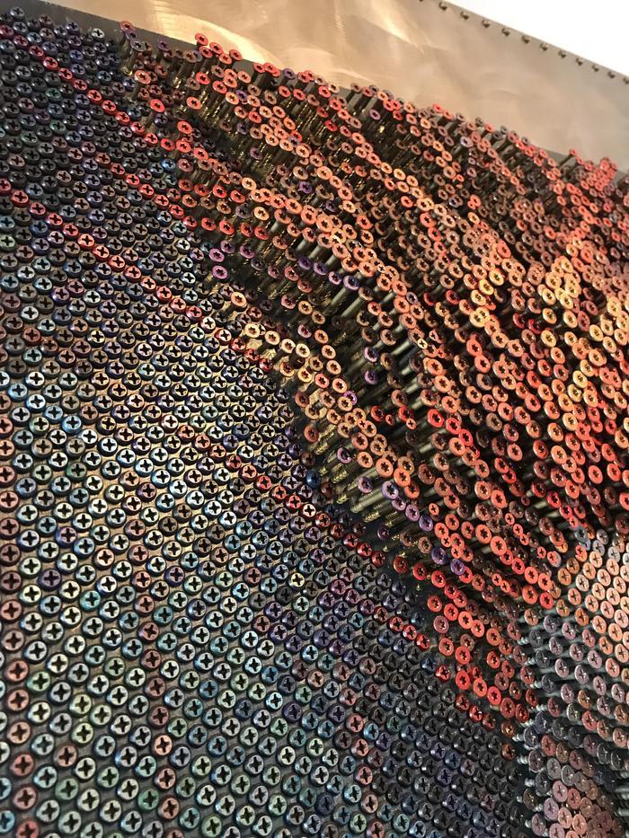 Более 20 000 шурупов. Шуруп, Картина, Цвет, Трипофобия, Фигура, Девушки, Арт, Длиннопост