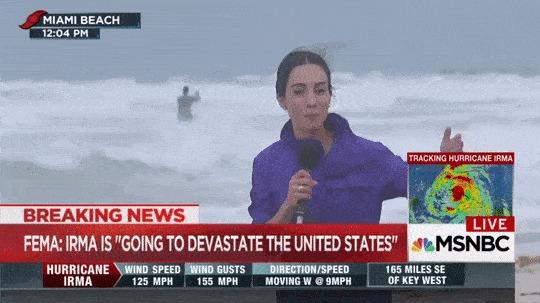 Срочный новости: Ураган Ирма уничтожает США.