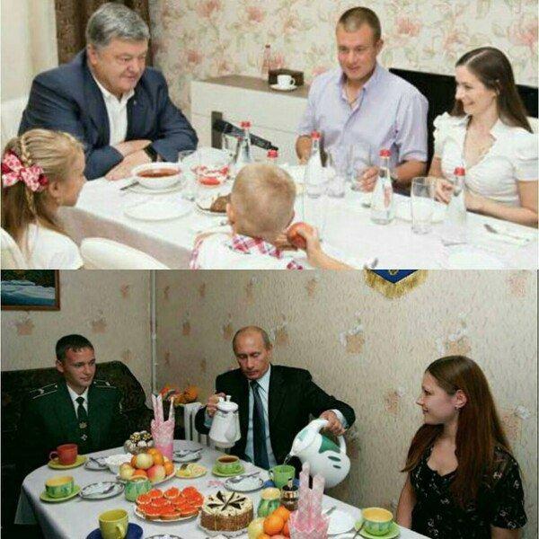 Просто почувствуйте разницу Путин, Петр Порошенко, Политика, Украина, Мюсли лаврова, Зашакалено