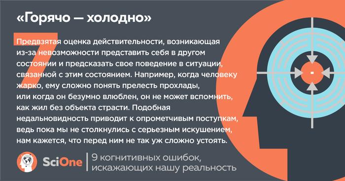 Баги мышления: еще 9 когнитивных ошибок, искажающих нашу реальность Наука, Длиннопост, Карточки, Когнитивные искажения, Психология, Рациональное мышление, SciOne, Sci-One